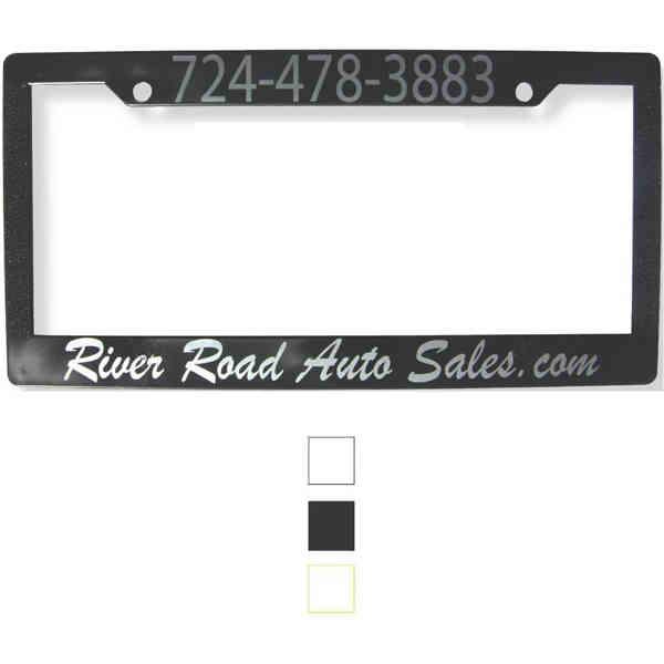 Plastic auto license plate