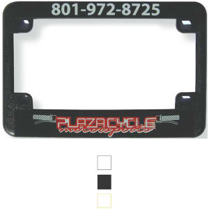 Motorcycle license plate frame.