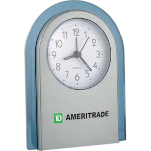 Stand-up analog desk alarm clock, 4 1 4 x 5 1 2 x 1 3 8 CK-660