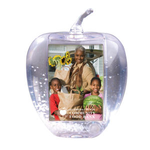 Clear apple globe, insert