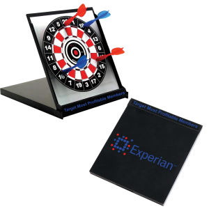 Desktop magnetic dart board