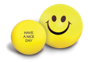 Smiley face stress ball,