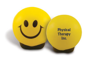 Smiley stress ball with