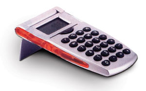 Flip top calculator, 2