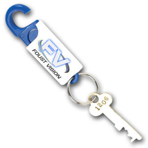 Spring loaded key tag