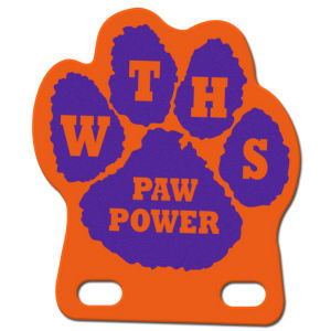 Paw shape pencil pennant,