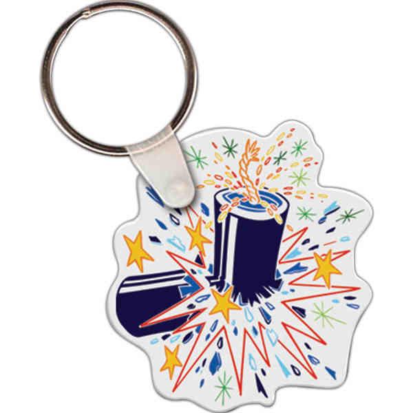 Fireworks shape key tag,