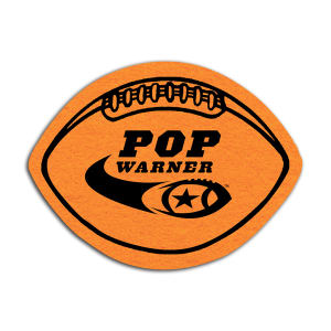 Football shaped shammy coaster,