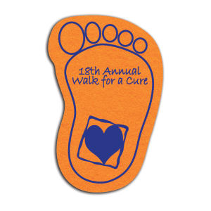 Foot shaped shammy coaster,