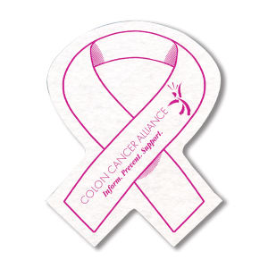Awareness ribbon shaped shammy