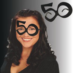 Big 50 birthday eyeglasses,