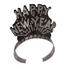 Happy New Year black