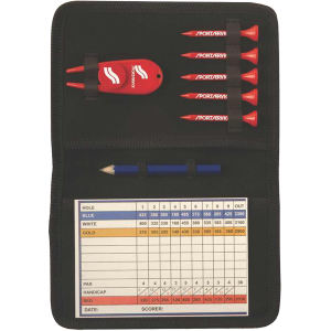 Golf kit with scorecard