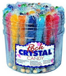Rock crystal candy sticks,