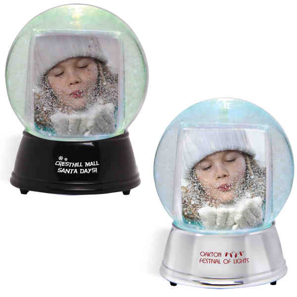 Large snow globe with