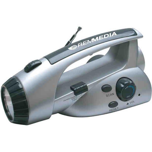 LED dynamo flashlight radio.