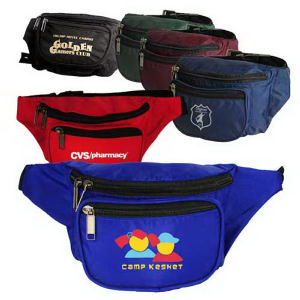 3-Zippered fanny pack.