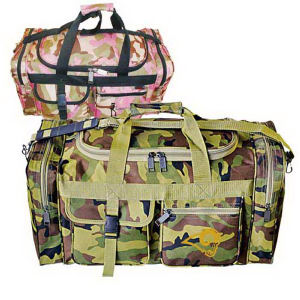Camouflage travel duffel made