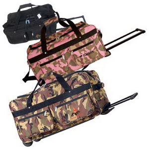Rolling duffel made of
