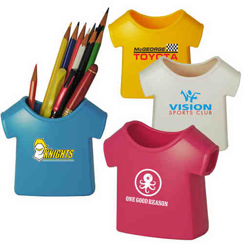 T-shirt shape pen holder.