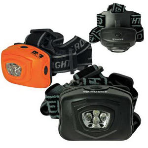 2-Mode 4-LED head lamp.