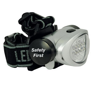 4-Mode 8-LED head lamp.