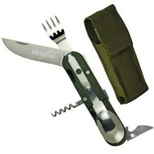 Multi-function camping tools.
