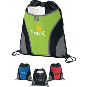 Front pocket drawstring sport