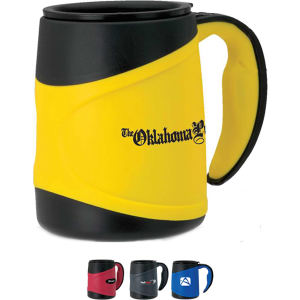 Microwavable mug with insulated