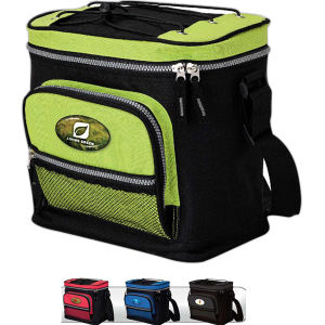 12-Can cooler with zippered