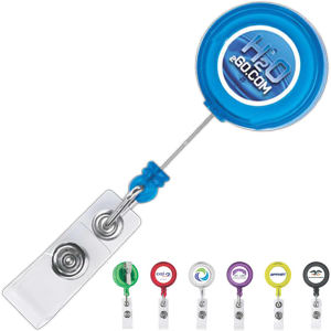 Retractable badge holder with