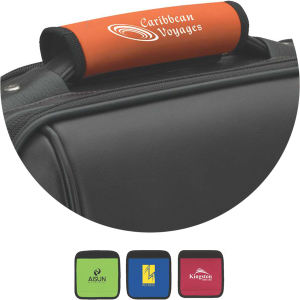 Luggage identifier, padded handle.