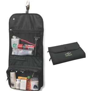 Folding toiletry bag with