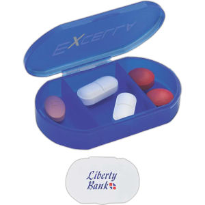 Pill holder with 3