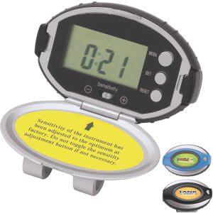 Deluxe pedometer with timer,
