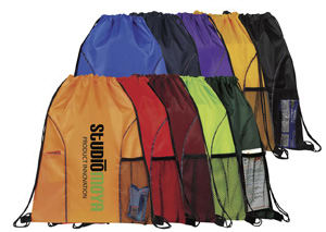 Drawstring backpack with dual