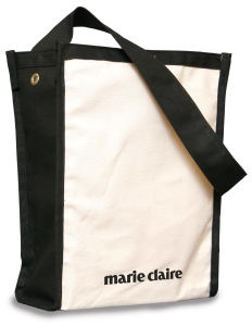 Tote bag made of