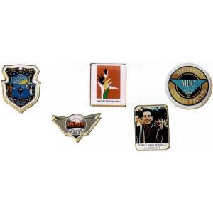 Photoart lapel pin emblem