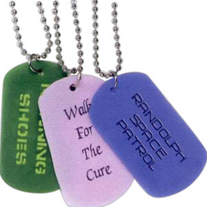 Debossed silicone tag -