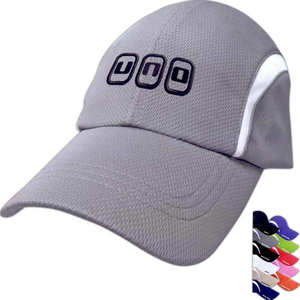 Dry fit mesh cap;