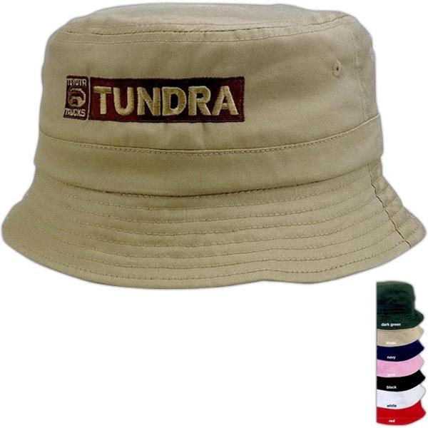 100% cotton bucket cap.