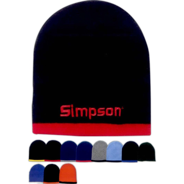 Two-color beanie. Approximately 8.5