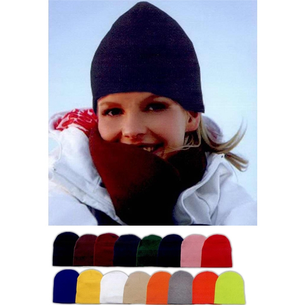 Short Knit Beanie. Approximately