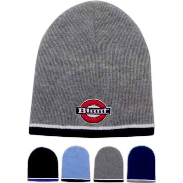 Tri-color beanie. Approximately 8.5