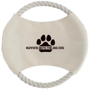 Khaki dog disc with