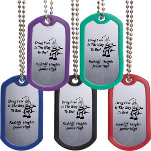 Customizable dog tag with