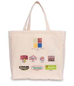 100% Recycled Eco-canvas tote
