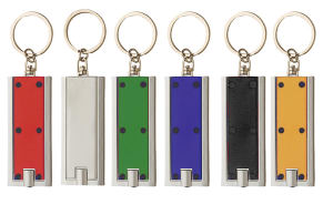 Rectangle LED light keyring.