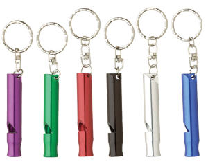 Aluminum whistle keyring. Anodized