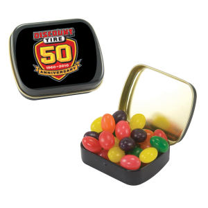 Small black candy tin